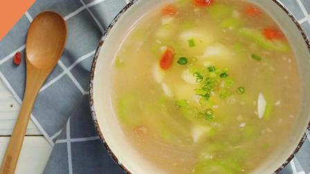30秒教你做清爽丝瓜日本豆腐汤