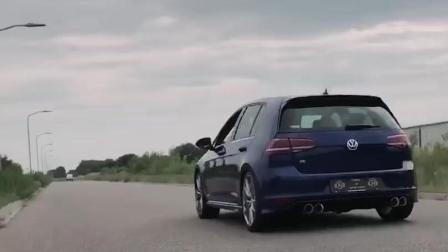 大众VW 高尔夫Golf MK7 R LOUD DSG FARTS升级ARMYTRIX智能遥控阀门排气套件!