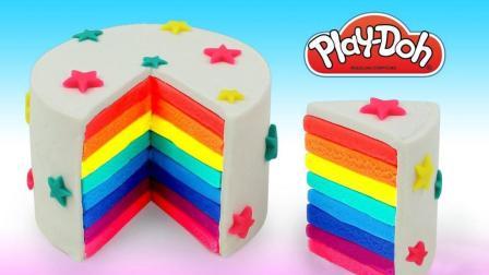 儿童色彩认知 创意DIY彩虹蛋糕冰淇淋, 培养宝宝想象力激发创造力