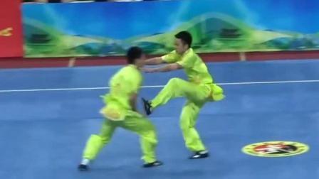 传统武术把对练玩到极致 一对二散手对打套路比赛冠军