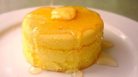 有平底锅就能做的蓬松蛋糕, 材料廉价简单, 比一般蛋糕好吃百倍