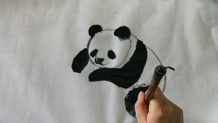 中国水墨画——大熊猫怎么画