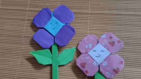 太阳花向日葵折纸教程 自制墙体装饰花 儿童书画折纸