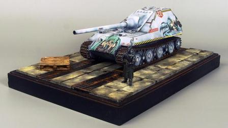 模神MoShen场景地台套件《车库01/02》军事战车坦克模型沙盘情景展示地台DIY制作教程教学