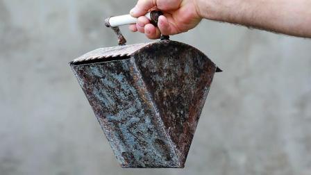 没人要的生锈废铁让大叔改成铺瓷砖神器, 这效率提高3倍都不止!