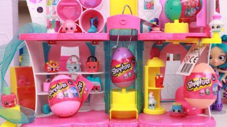 趣盒子玩具 第一季 购物小能手复活节彩蛋拆出shopkins迷你彩蛋