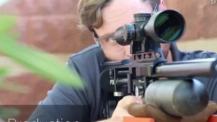 国外小哥展示超精准的精准气步枪
