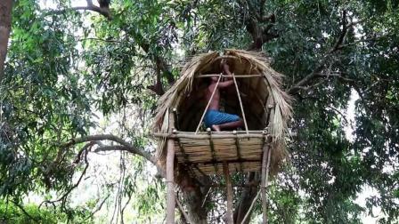 澳洲小哥  荒野求生 野外生存 生存哥 建造树屋