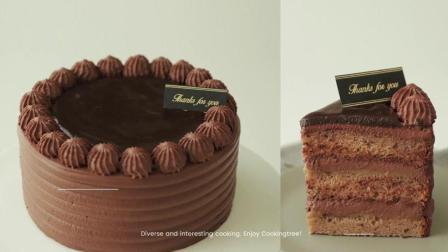 【ASMR厨房】奶茶蛋糕, 眼前的黑不是黑.是奶茶粉.有夹心中字详解