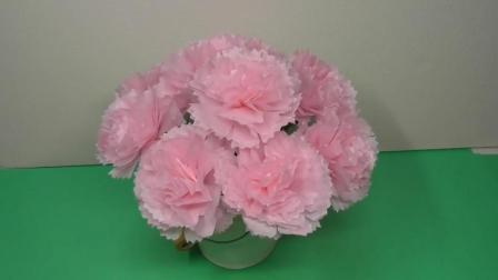 """创意纸花DIY, 教你制作""""康乃馨纸花""""的方法, 非常漂亮"""