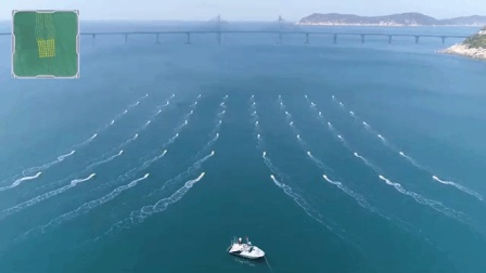 无人艇激浪南海 队形变幻莫测闪现航母造型