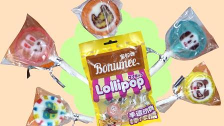 甜甜棒棒糖可爱小动物图案