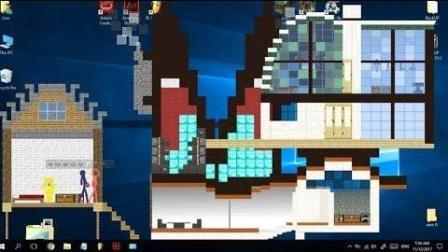 我的世界: 电脑桌面版火柴人搞笑短片第二集