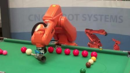 【金牌台球.com】机器人打球  机器人还有什么不会的?