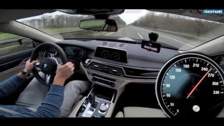 12缸的宝马7系, 在高速飙到320的极限速度, 这隔音没谁了