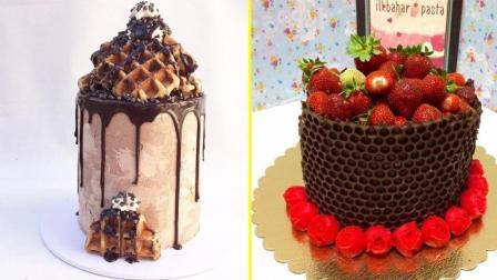 神奇的巧克力蛋糕装饰教程, 世界上最满意的蛋糕视频