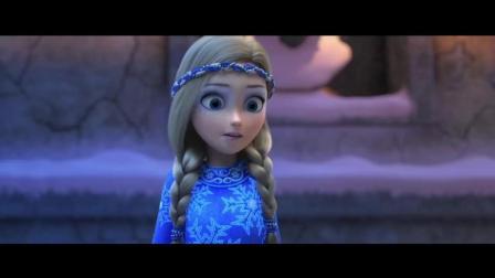《冰雪女王3》片段: 罗兰喷火飞行 跟钢铁侠学的?