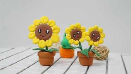 超轻粘土DIY制作植物大战僵尸向日葵