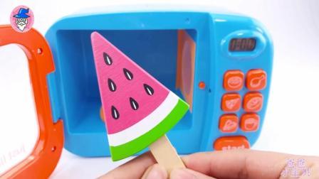 神奇微波炉玩具 彩虹豆制作巧克力冰棒