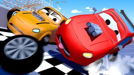 汽车城之火车特洛伊 第46集 赛车杰瑞和小泰勒撞在了一起!