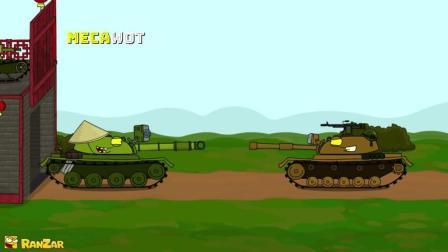 坦克世界搞笑动画-C系的超级改装横行坦克世界