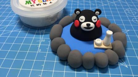 超轻粘土制作熊本熊手工教程 日本宅文化