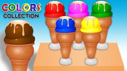 制作彩色蛋筒冰淇淋学习颜色