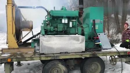 零下20度冷启动一台250KW的柴油发电机, 全村人终于能用电了