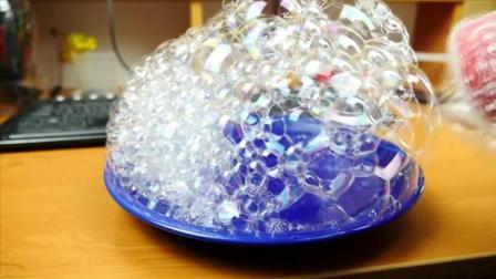 塑料瓶DIY制作洗洁精泡泡生成器