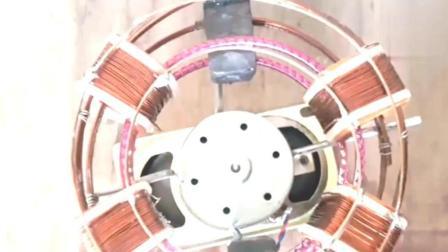 用音响喇叭磁铁和铜丝制作一套自由能发电装置, 原理很简单
