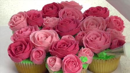美味的玫瑰花小蛋糕制作方法, 送给你的吃货男友吧