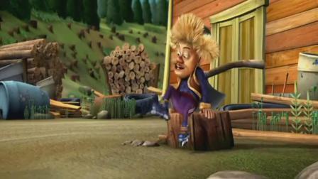 动画片 风一样的速度简直太厉害了! , 熊出没: 光头强研发的火箭滑冰鞋