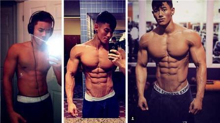 21岁亚裔混血健身男模Steven Cao实力打脸, 肌肉健硕身材霸道