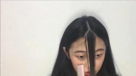 一妹子尝试自己剪空气刘海, 没想到一刀过后, 秒变小学生! !