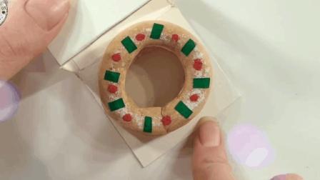 微世界DIY: 迷你圣诞花环面包