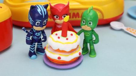 睡衣小英雄给飞壁侠准备美味的生日蛋糕节日特辑亲子早教启蒙益智