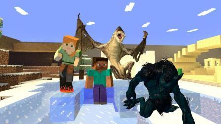我的世界封印千年的狼人和巨龙被解除封印了