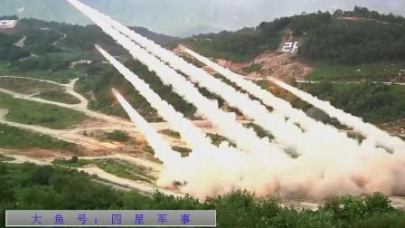 实拍美韩军演: 超强立体重火力展示。