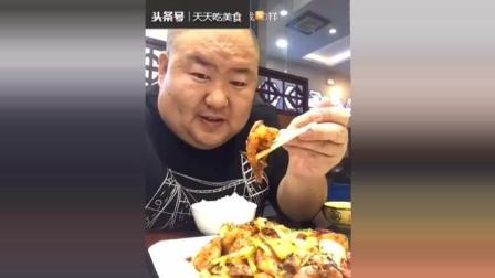 美食吃货第572季: 300斤胖哥狂吃地道东北菜, 猛吃水豆腐