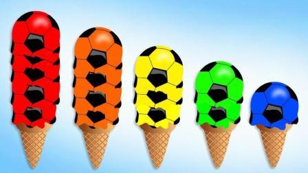 冰淇凌球叠叠高制作彩色蛋筒冰淇淋