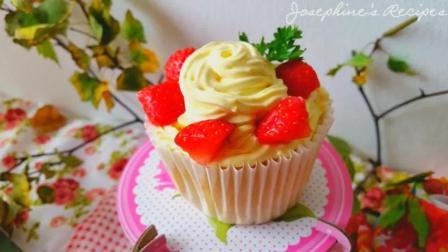 草莓戚风蛋糕, 颜值爆表让你一见钟情