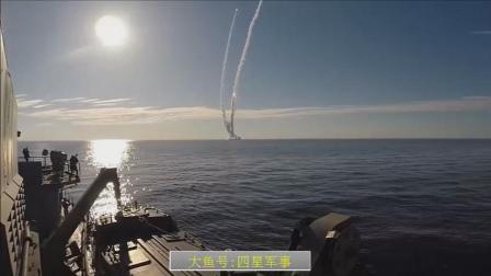 俄罗斯核潜艇实弹演习, 潜射四枚导弹, 场面壮观