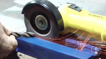 用钢铁焊个底座, 角磨机又有新用法, 很实用