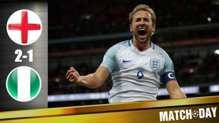英格兰2: 1尼日利亚, 卡希尔头球、凯恩弧顶劲射破门, 伊沃比补射