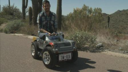 世界上最小的载人汽车, 只有1米2, 没有驾照不让开!