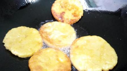 地瓜配上糯米粉, 做出来的家常小吃, 味道香, 好吃不腻