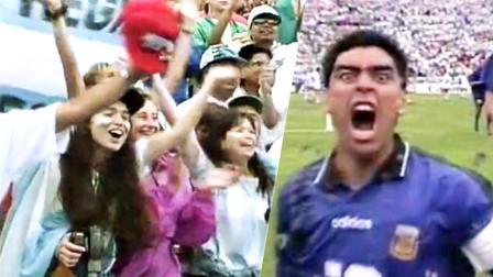 体坛嘿未够 第一季:世界杯历史10佳团队配合 马拉多纳怒吼引美女狂欢