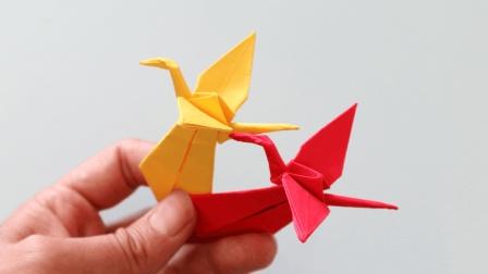 好看的3D折纸鹤书签, 看一遍就可以学会, 关键是漂亮女生都喜欢