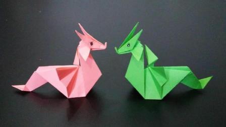 这种神龙折纸没几个人会, 实际上看了之后都能学会, 手工折纸视频