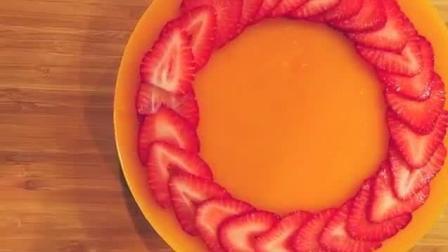 在家轻松做蛋糕, 嫩滑香甜的免焗芒果芝士蛋糕